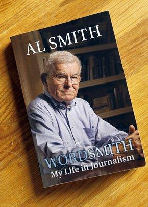 "Al Smith's new book ""WORDSMITH: My Life in Journalism"", photographed in his home in Lexington, Ky., Friday, November, 04, 2011. Al Smith, a veteran news reporter, dedicated the book to his wife, Martha Helen Smith."