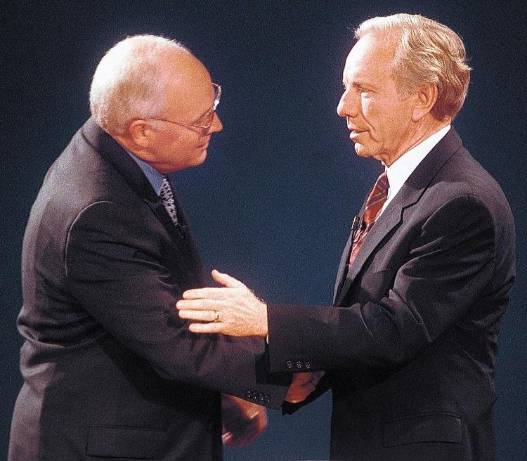 Cheney and Liberman go mano a mano at Centre College in 2000.