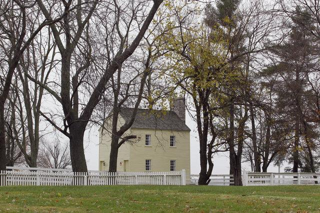 The Old Ministry's Shop, built about 1813 as a workshop for Shaker Village's religious leaders, was restored and turned into a two-bedroom cottage where guests may stay.