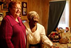 After being paired together almost two weeks, 95-year-old Ada Hickman and volunteer Patsy Shawler find they have a lot in common. Shawler helps Hickman with her basic needs, like laundry and transportation to go go shopping.