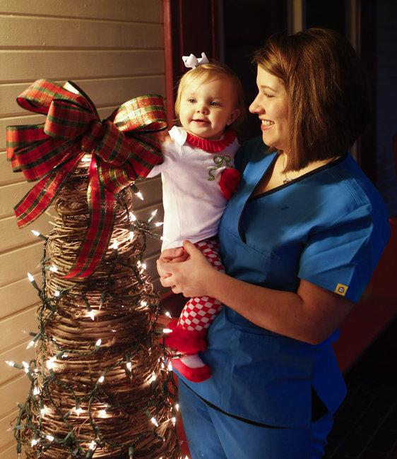Kelsey Smith used her layaway account to buy gifts for her daughter, Addison Chapman, 1.