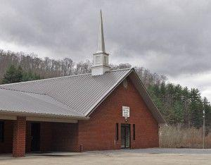 The Gulnare Baptist Church sits empty Tuesday, just days after church members allegedly voted to exclude interracial couples from being members of, or participating in various services at, the church.
