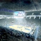 Proposed changes in Rupp Arena include an eight-sided video scoreboard over the basketball court. Upper-arena seats would have chair backs.