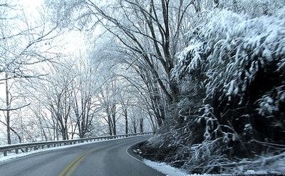 The county received several inches of snow, creating a beautiful backdrop with trees laden with snow drapping the roadways. The Harlan County Road Department cleared roads throughout the county, making traveling easier for those driving to work on Monday.