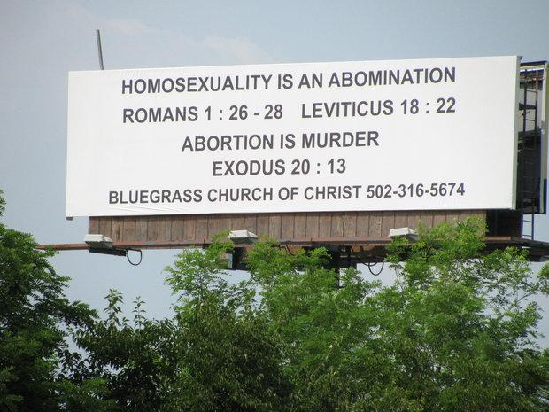 The church's billboard was a topic of discussion in social media before and after its disappearance.