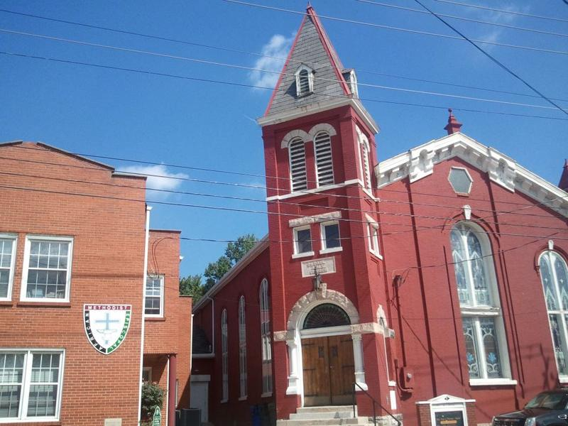 An exterior view of the Historic St. Paul African Methodist Episcopal Church.