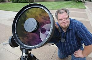 Scott Bain, physics professor at Hopkinsville Community College, displays the telescope he'll use Aug. 21, 2017, to watch a total eclipse of the sun. A spot northwest of Hopkinsville will be the best place on earth to watch the eclipse.
