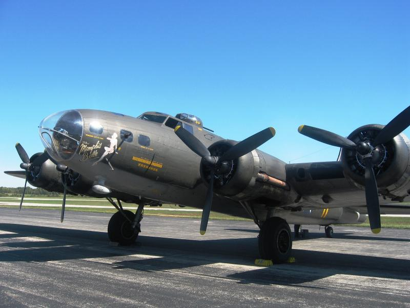Boeing B-17 positioned in southern Indiana