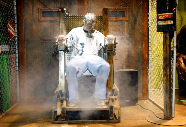At last year's ScareFest, Jason Morgan of Screampark took a turn in the Hot Seat, a faux electric chair. The Hot Seat will return for this weekend's ScareFest.