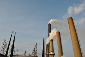 The smokestacks at LG&E's coal-fired Cane Run power plant.