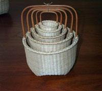 Basketmaker Terry Cornett is a juried member of the Kentucky Guild of Artists and Craftsmen and the Kentucky Craft Marketing Program. Terry studied basket weaving at the John C. Campbell Folkschool under Martha Wetherbee, the renowned Shaker basket maker.