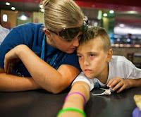 Amanda Rocafort and her son, Quintn, who takes Adderall for his ADHD. (NYT photo by Bryan Meltz)