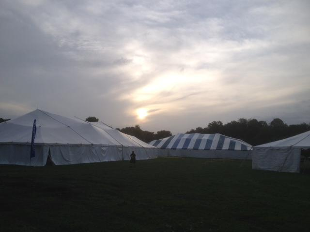 Morning Sun Breaking Through the Clouds at Ichthus
