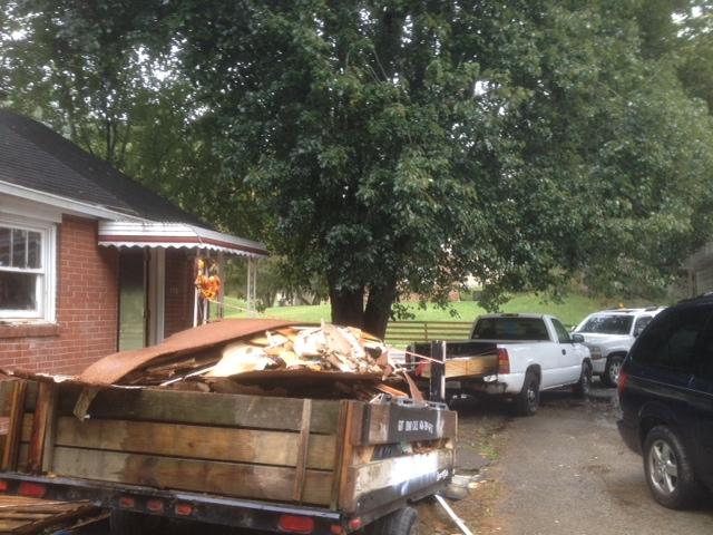 Materials Removed from House Under Renovation