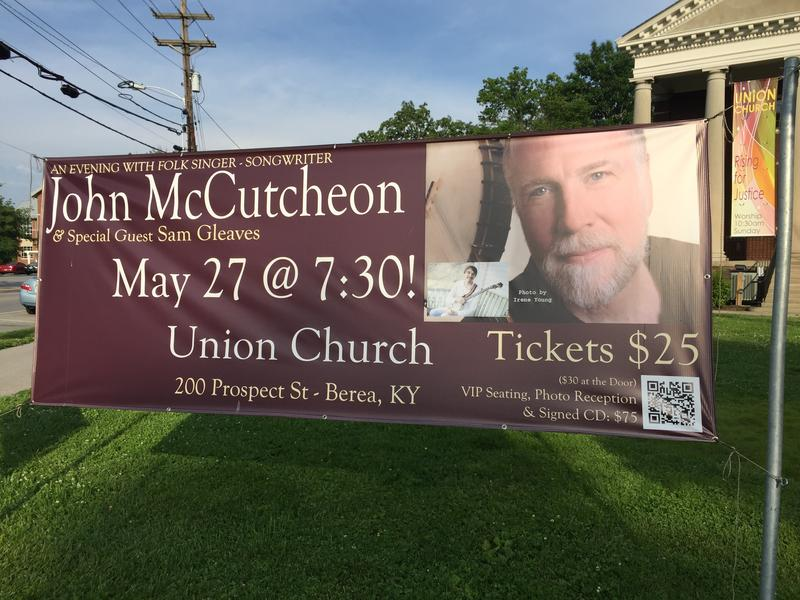 Folksinger/songwriter performed May 27, 2016 at Union Church in Berea, KY
