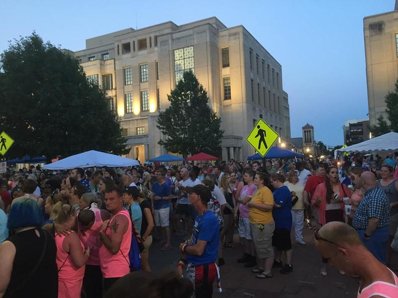 Thousands turned out on a hot evening for entertainment at Lexington Pride 2016