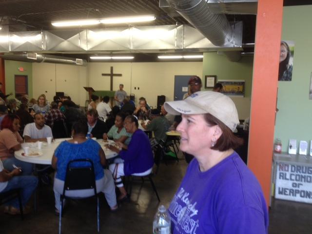 Lexington Council Member Susan Lamb Inside Lighthouse Ministries