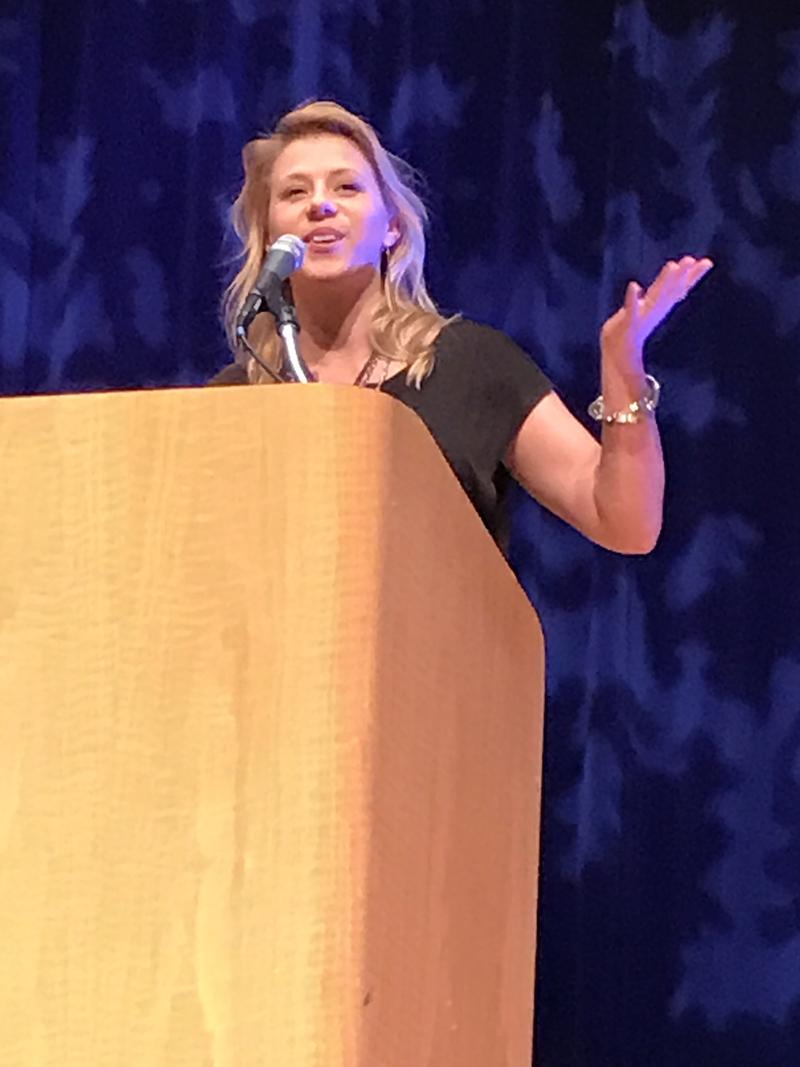 Jodie Sweetin spoke on the campus of Northern Kentucky University Tuesday November 29, 2016