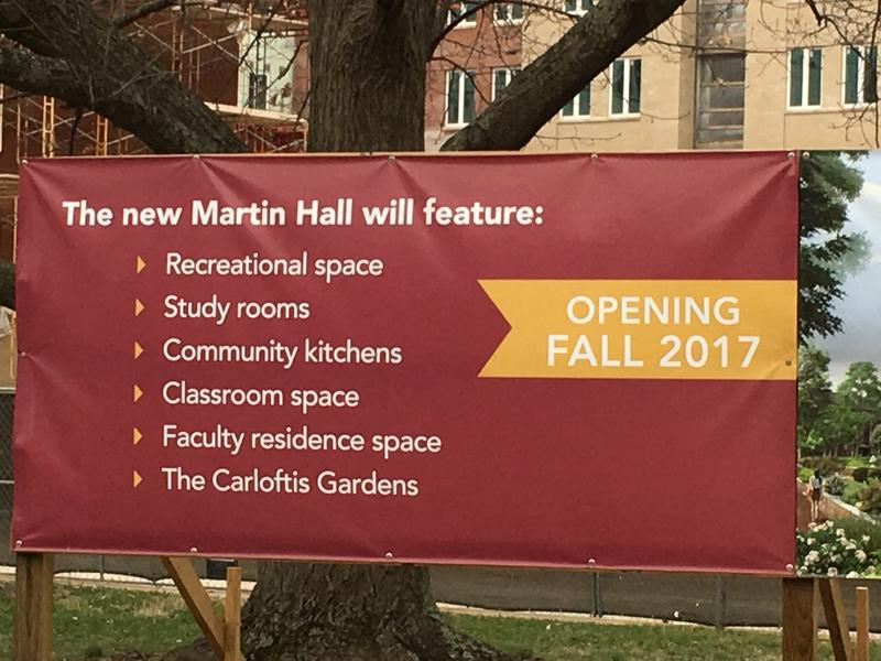 New Martin Hall under construction