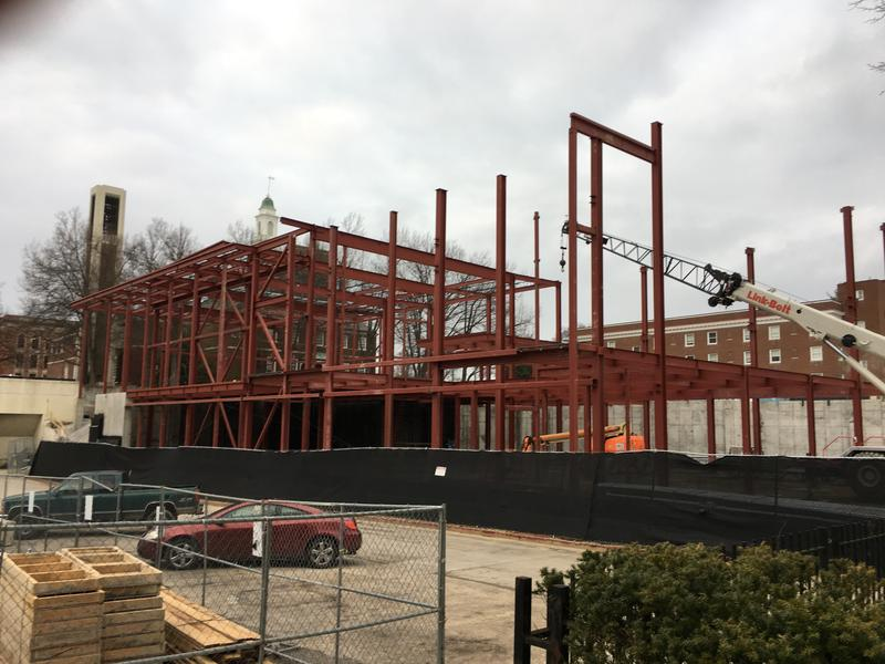 New dining hall under construction
