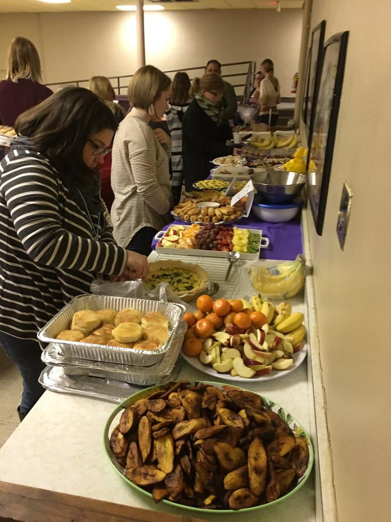 The food was On The Table at the Kentucky Refugee Minisitry.