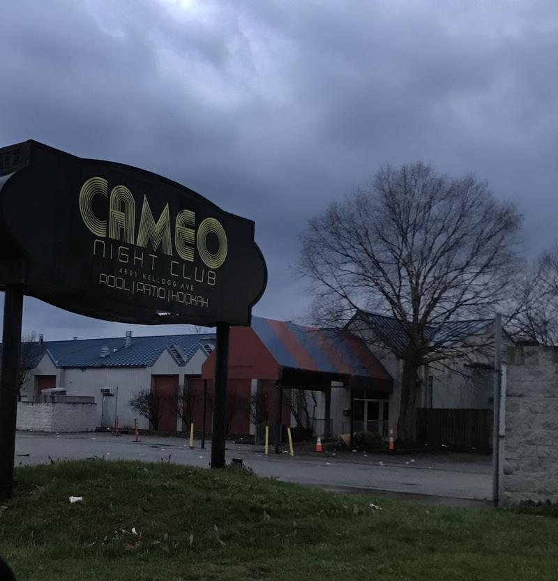It's quiet Sunday evening at the Cameo Nightclub in Cincinnati
