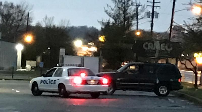 Cincinnati Police patrol Cameo Nighclub parking lot Sunday evening
