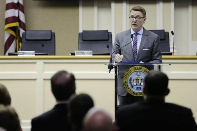 Lexington Mayor Jim Gray presented his budget proposal to Urban County Council Tuesday afternoon.