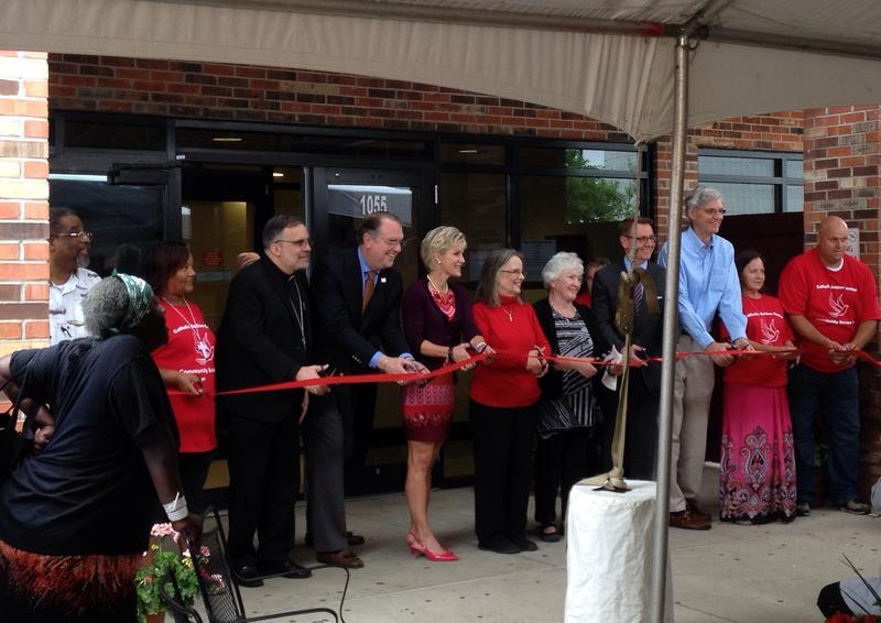 Ribbon Cutting at New Catholic Action Center