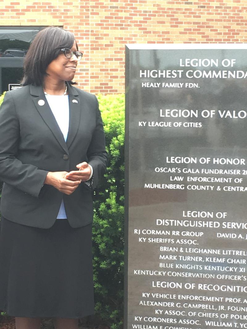Kentucky Lieutenant Governor Jenean M. Hampton was Keynote Speaker for the 2017 Ky Law Enforcement Memorial Ceremony