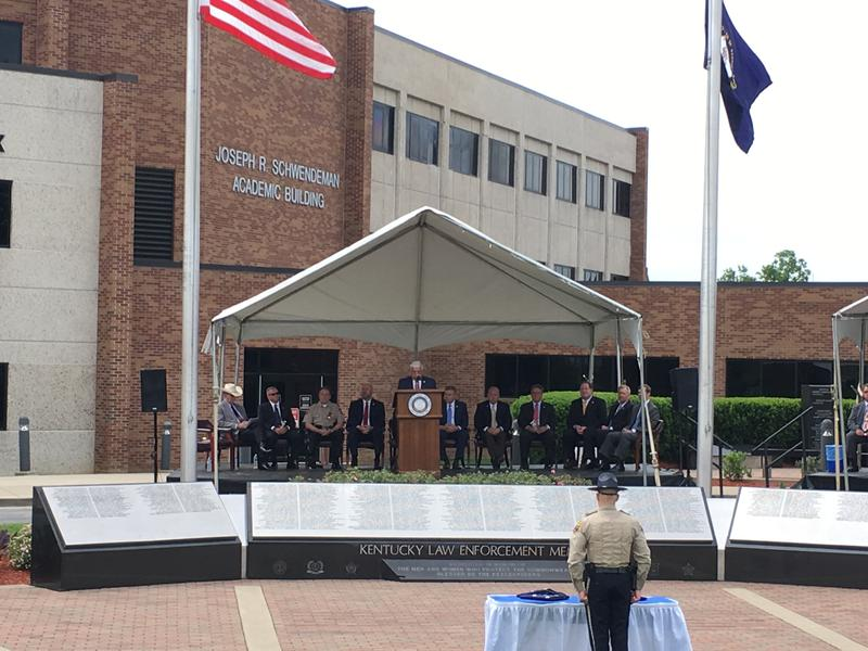 The 2017 Ky Law Enforcement Memorial Ceremony took place May 23 outside the Criminal Justice Training Center on the Eastern Kentucky University campus