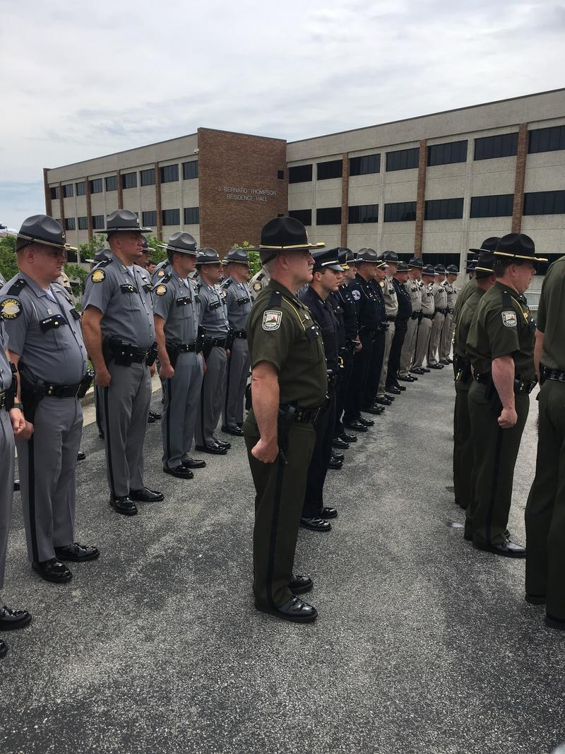 Police Officers from departments and agencies across the state attended the  2017 Ky Law Enforcement Memorial Ceremony on May 23