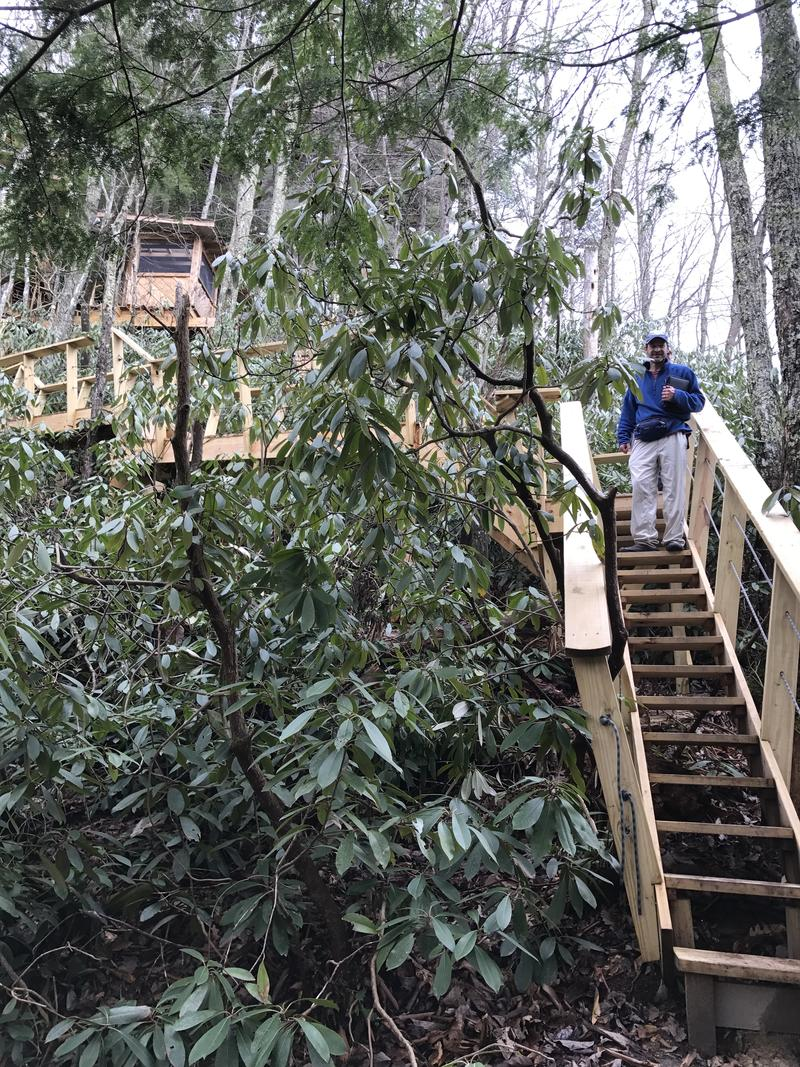Marty Hanrahan was completely impressed with the Observatory Treehouse