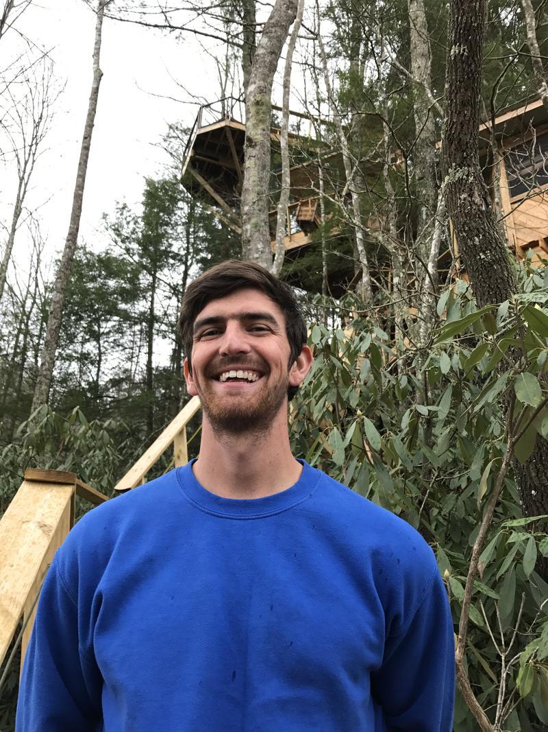 Django Kroner  headed up to the Observatory Treehouse