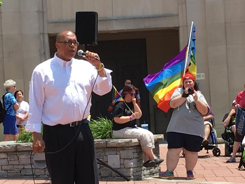 State Senator Reggie Thomas affiremd his support for the LGBTQ community