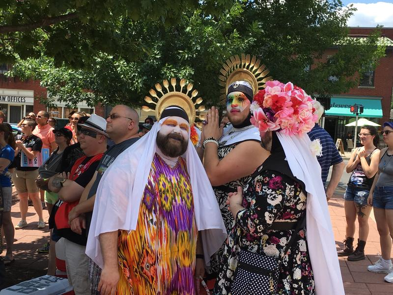 The Sisters of Perpetual Indulgence made their presence known at the rally