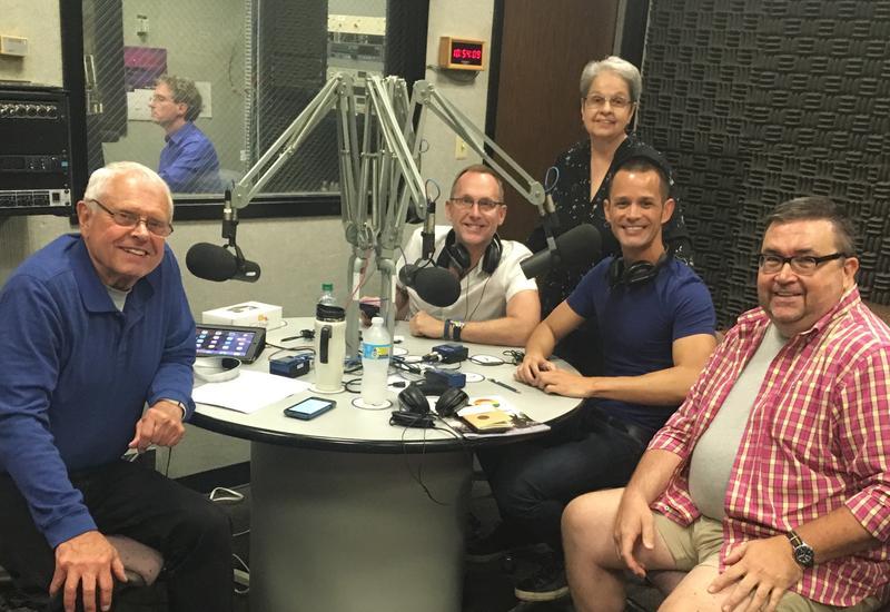 L-R: John Hingsbergen; Del Shores; Dr. Deborah Core; Emerson Collins; Jay McCoy