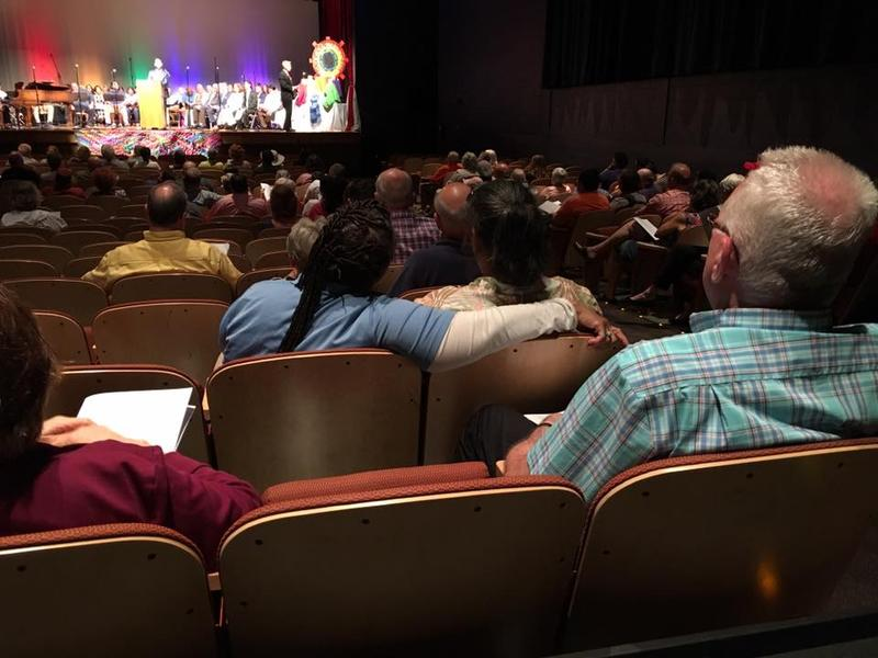 A crowd of 200 representing various faith groups gathered for the first-ever Pride Interfaith Service