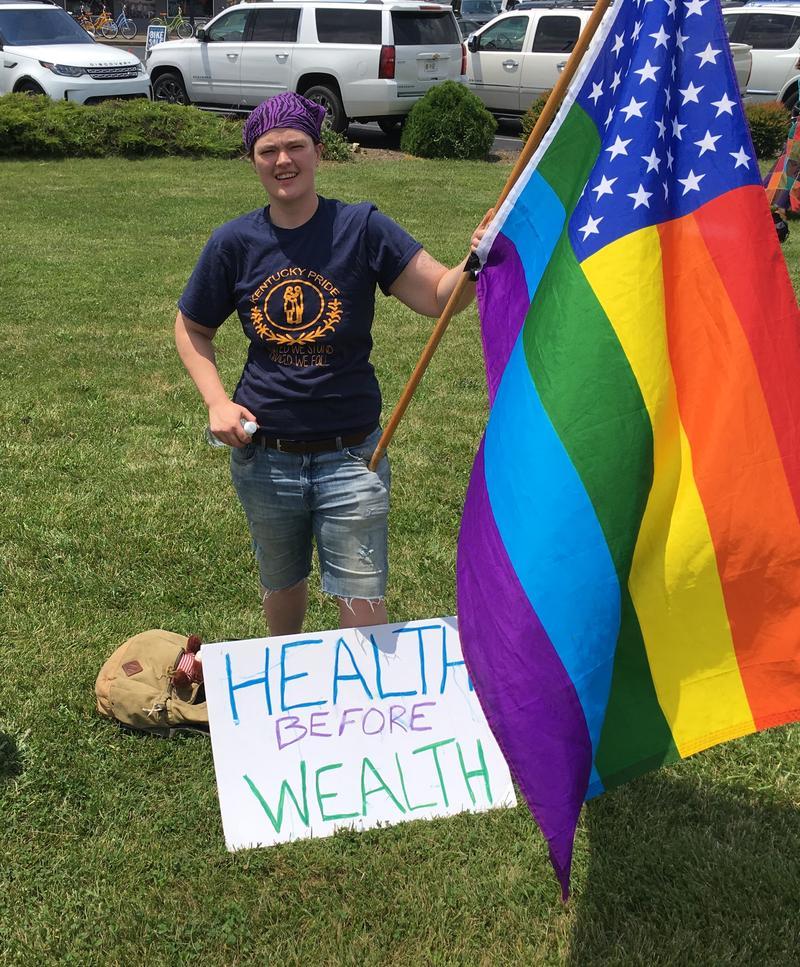 Lexington Protester Marty Harper