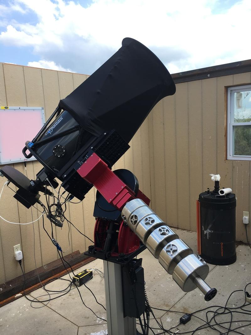 "A 14"" diameter remote-controlled telescope is the centerpiece of the EKU Observatory"