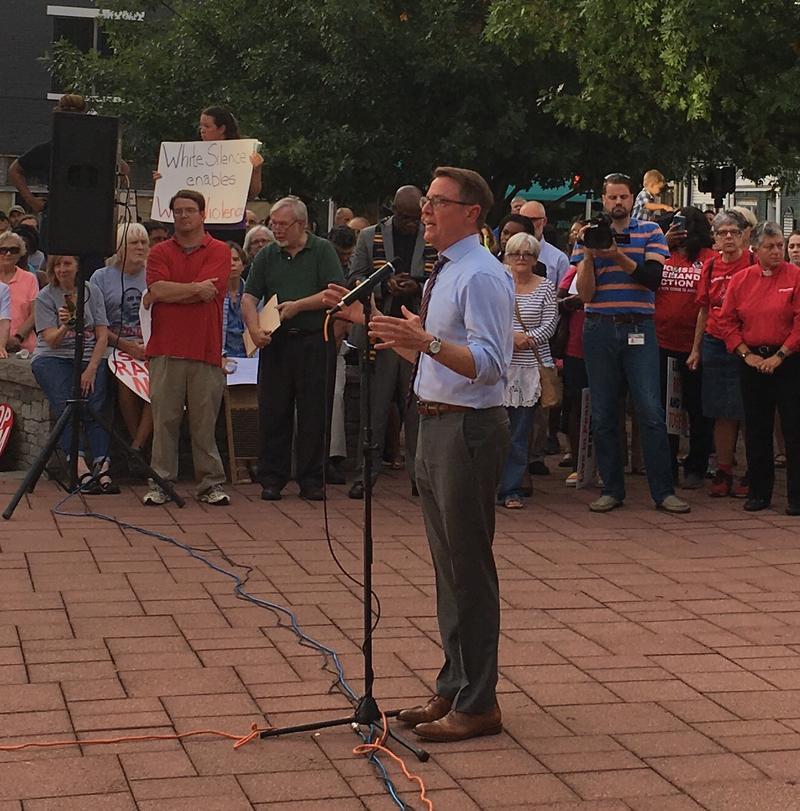 Mayor Jim Gray Addresses the Vigil Crowd