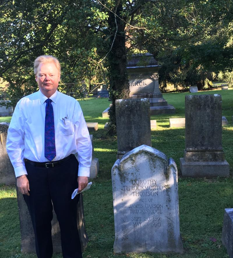 Lexington Cemetary General Manager Mark Durbin Near John Breckinridge Grave