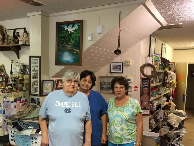 Friends of Paint Lick Volunteers Dora Bowles-Katie Rollins-Janet Perry
