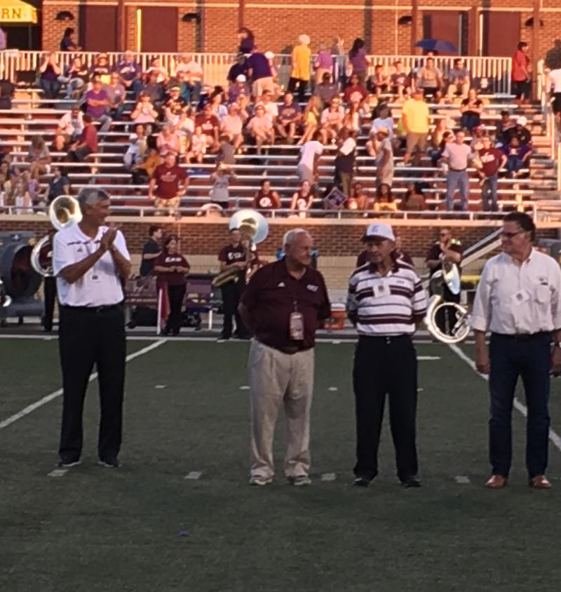 Former EKU Football Coach Roy Kidd and his 1967 Grantland Rice Bowl Team Recognized at Halftime