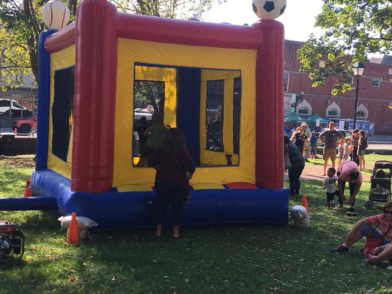 "Capital Pride featured something for all ages, including a ""bouncy house"" for the kids"