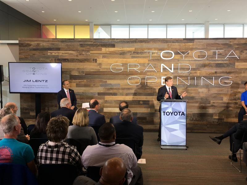 Governor Matt Bevin and Toyota Motor North America CEO Jim Lentz