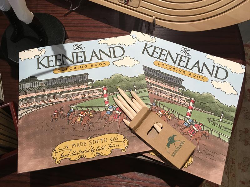 New Adult Coloring Book at Keeneland