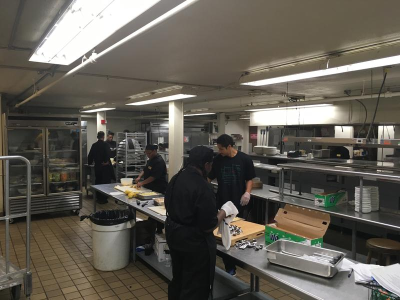 Kitchen Prep for Opening Day of Racing