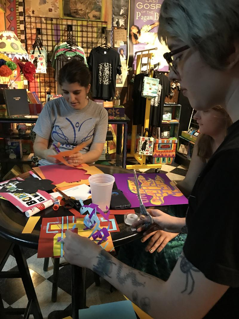 More than 20 people gathered for art and fundraising for DACA