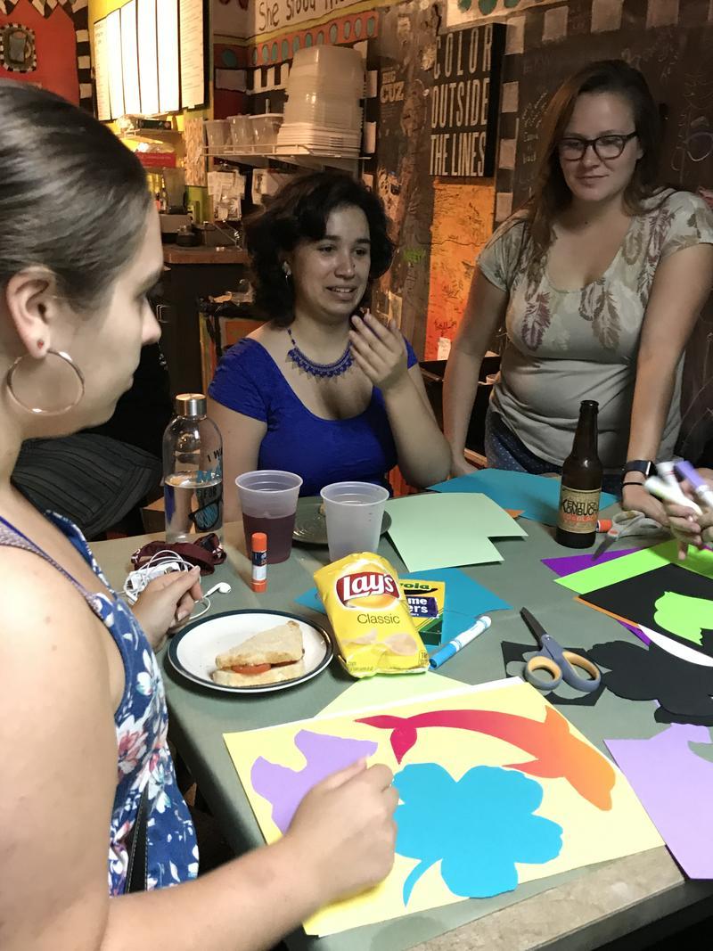 Annelisa Hermosilla, center, helped organize Molas for DACA